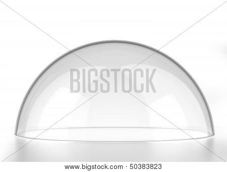 transparent semi-sphere