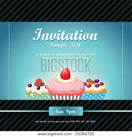 Cupcake background 03