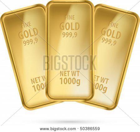 Three gold bars.