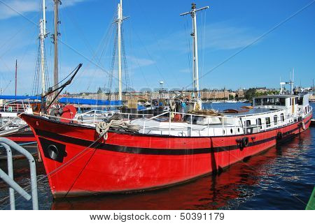 Red Cargo Boat