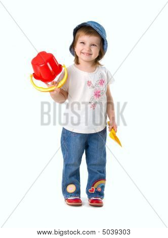 Little Girl And Shovel