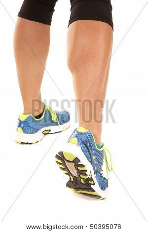 Woman Legs Running Black Pants