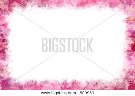 Pretty Pink Grunge Frame.