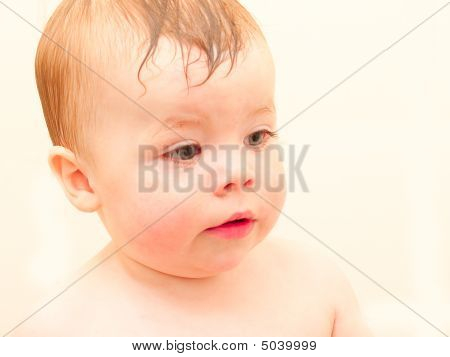 Portrait Of A Baby Boy With Room To Copy