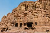 foto of petra jordan  - the Corinthian Tomb in nabatean petra jordan middle east - JPG
