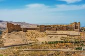 picture of crusader  - Al Karak kerak crusader castle fortress Jordan middle east - JPG