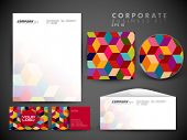 stock photo of letterhead  - Professional corporate identity kit or business kit with artistic - JPG
