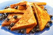 image of french toast  - French toast with blueberries - JPG