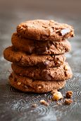 foto of hazelnut  - Chocolate and hazelnuts cookies - JPG