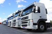 Row Of Volvo Trucks