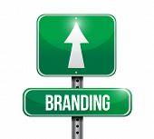 Branding Road Sign Illustration Design poster