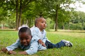 picture of wanton  - Happy little children are having a nice day in the park - JPG