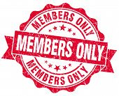 pic of fellowship  - members only grunge red stamp on white background - JPG
