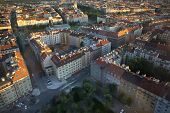 Aerial View Of City Of Prague, Capital City Of The Czech Republic