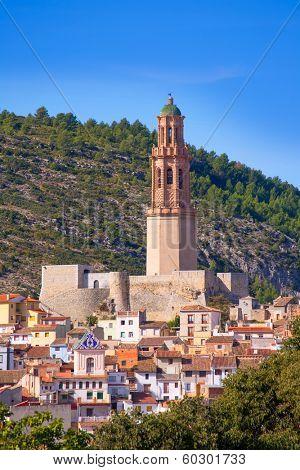 Jerica Castellon village skyline in Alto Palancia of Spain Valencian Community