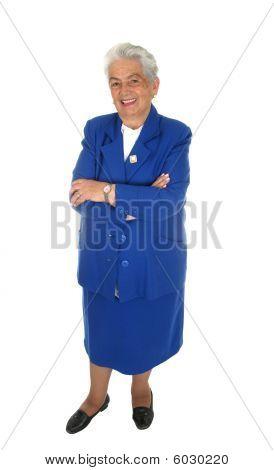 Elderly Happy Woman  Full Body Isolated