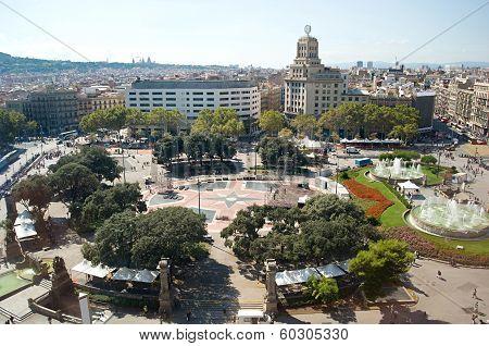 Central Square In Barcelona
