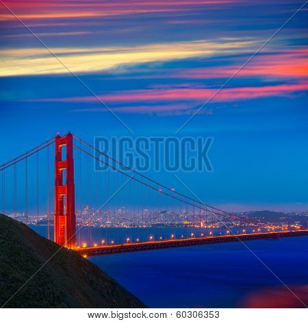 San Francisco Golden Gate Bridge sunset California USA