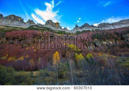 Faja de Pelay in Ordesa valley Pyrenees Huesca Aragon Spain