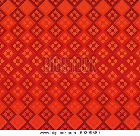 Red Background Diamonds Geometry Seamless Decoration Elegance