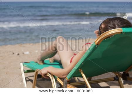 Sunbathing On Chaise