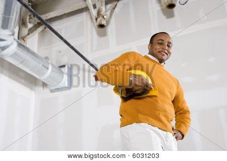 Man in Space Office bereit für buildout