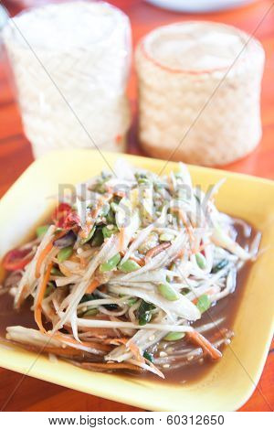 Som Tum, Thai Papaya Salad Hot And Spicy