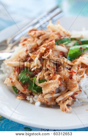 Spicy Stir-fried Pork With Rice