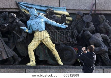 Bulgaria Ukraine Soviet Army Monument Graffiti