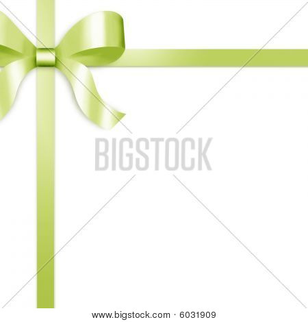 Gift Ribbon With Green Satin Bow