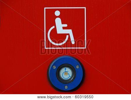 Pictogram wheelchairs