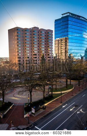 View Of Modern Buildings Along 11Th Street In Downtown Wilmington, Delaware, From The City Center Pa