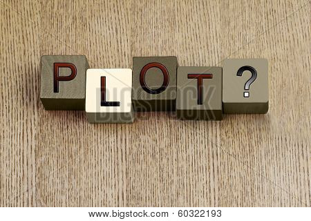 Plot Sign, For Writing, Story, Education, Writers And Authors.