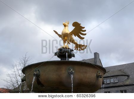 GOSLAR, GERMANY - 2014 JANUARY, 08: Golden Eagle of Goslar