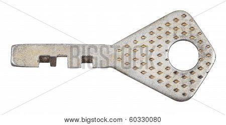 One Steel Door Key For Disc Tumbler Lock