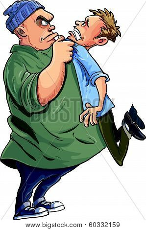 Bully grabbing a victim