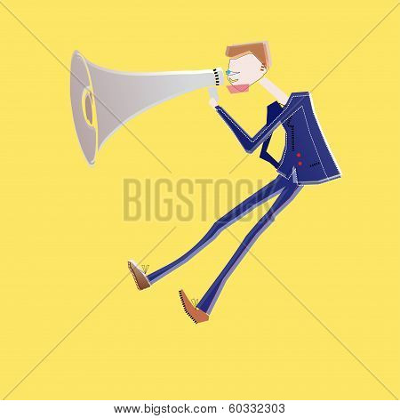 Megaphone business man