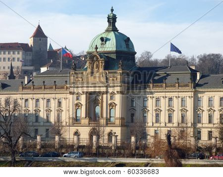 Prague City Vltava River Waterfront