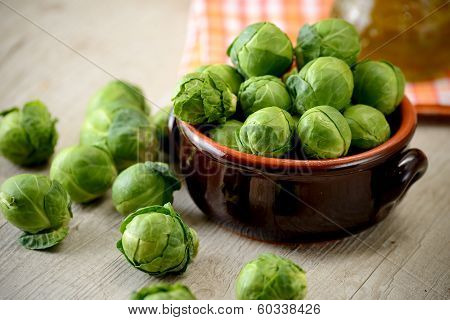 Bruxelle sprouts in a bowl