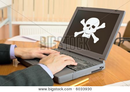 Laptop With Pirate Software