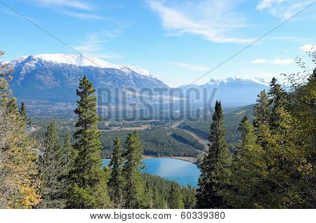 Mount Lady Macdonald And Grassi Lakes