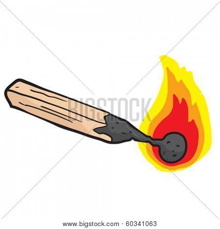 burning match cartoon doodle