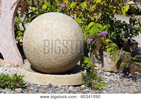 stone bowl in the garden