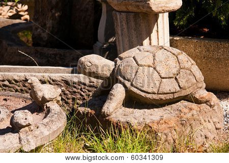 Stone Turtle in the garden