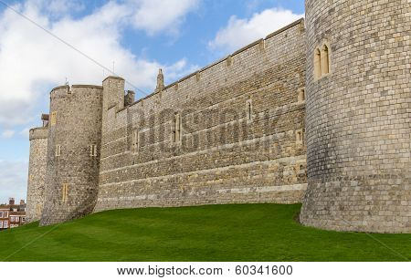 Outside Walls Of Windsor Castle