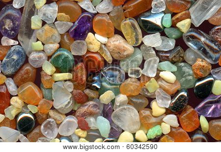Color Gemstones Background