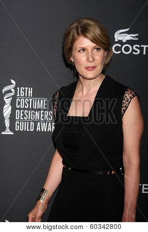 LOS ANGELES - FEB 22:  Caroline McCall at the 16th Annual Costume Designer Guild Awards at Beverly Hilton Hotel on February 22, 2014 in Beverly Hills, CA