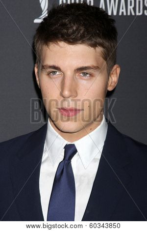 LOS ANGELES - FEB 22:  Nolan Gerard Funk at the 16th Annual Costume Designer Guild Awards at Beverly Hilton Hotel on February 22, 2014 in Beverly Hills, CA