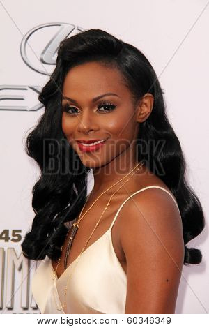 LOS ANGELES - FEB 22:  Tika Sumpter at the 45th NAACP Image Awards Arrivals at Pasadena Civic Auditorium on February 22, 2014 in Pasadena, CA