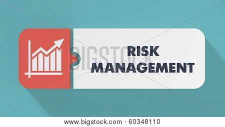 Risk Management Concept in Flat Design.